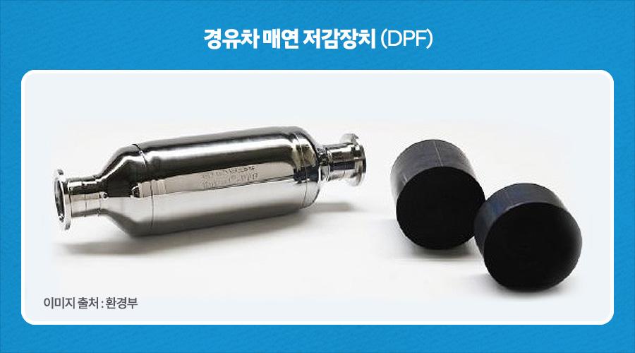 경유차 매연 저감장치(DPF) - 이미지 출처 : 환경부