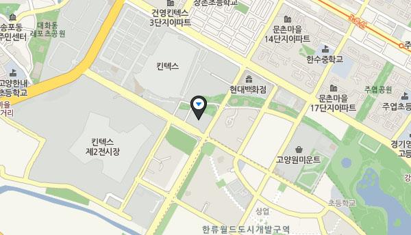 현대 모터스튜디오 고양 지도