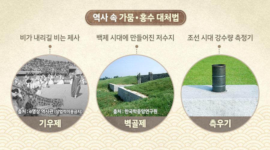 역사 속 가뭄·홍수 대처법